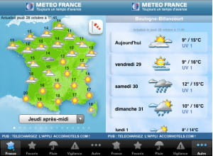 l'application météo france