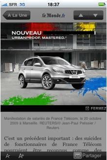 expand banner réalisée par l'agence duke pour une marque automobile (la marquea
