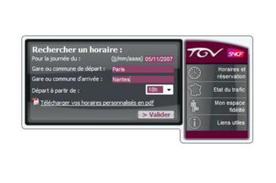un outil bien utile pour les nombreux français adeptes du tgv
