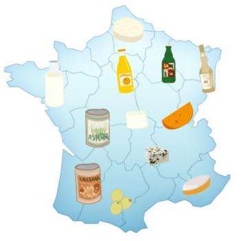 les produits les plus consommés par région