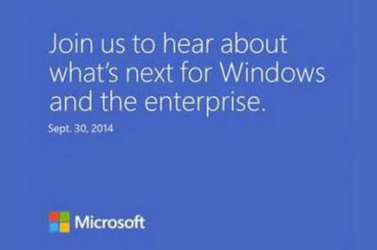 Windows 9 : Microsoft invite la presse le 30septembre