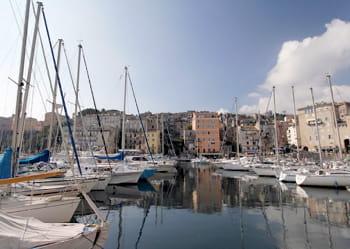 le vieux port de bastia.