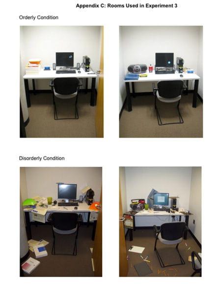 bureaux désordre étude