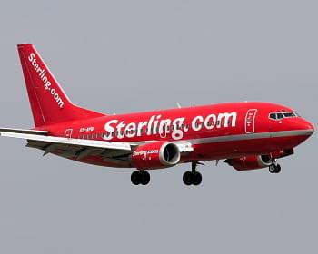 sterling airlines est née en 2005, de la fusion entre sterling airways et maersk