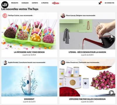 page d'accueil de thetops.fr