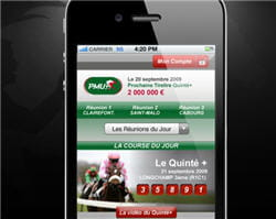 le nouveau site internet mobile du pmu se décline en deux versions.