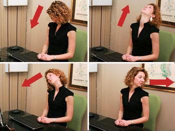 réaliser des mouvements légers avec sa tête permet de relaxer le cou et