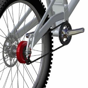 ce dérailleur optimise l'effort du cycliste.