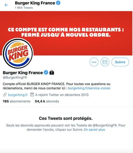 Burger King communication, community management, coronavirus, covid-19