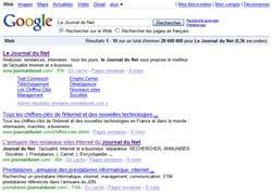 le moteur de recherche de google
