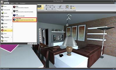 l'interface de publication d'un monde en 3d temps réel sur une page web depuis