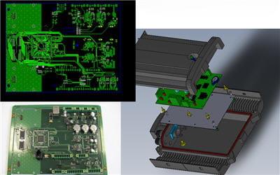 présentation électronique et schéma d'intégration du démonstrateur