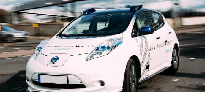 Sans chauffeur ni peur dans la Nissan autonome à Londres