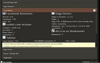 l'extension seo site tools permet, entre autres, de donner une idée de la