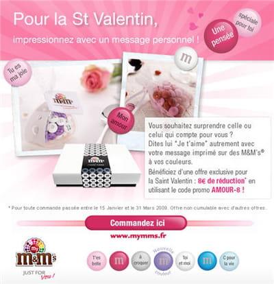 la campagne saint-valentin de m&m's