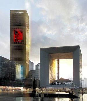 la tour signal devait initialement être terminée pour 2015.