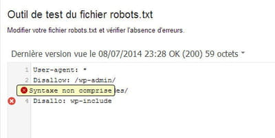 outil pour tester les fichiers robots txt