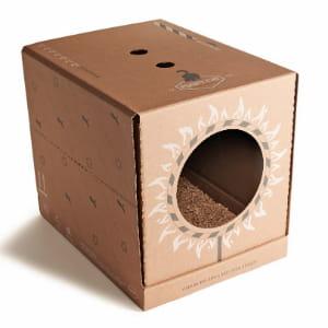 elle est fabriquée exclusivement à partir de déchets de bois.