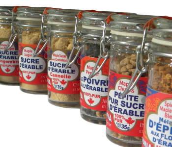 les pépites d'érable se dégustent comme une friandise ou pour sucrer un dessert.