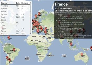 le gouvernement français a fait 1017 requêtes à google en 6 mois