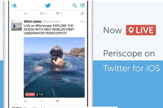 Twitter intègre les vidéos Periscope directement dans le feed des utilisateurs