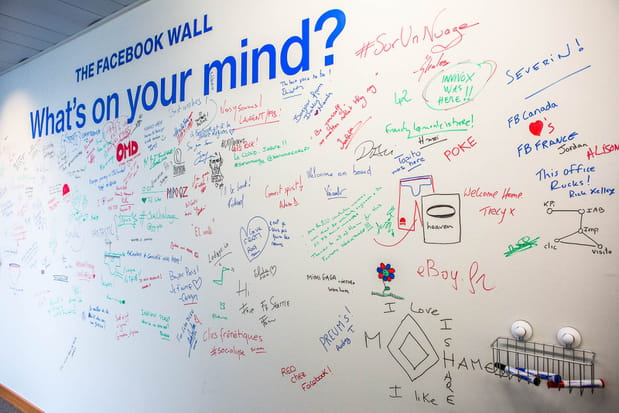 Le traditionnel mur facebook