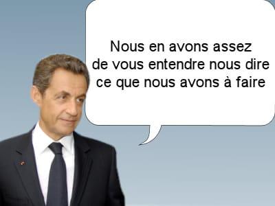 nicolas sarkozy, président de la république française, le23 octobre 2011.