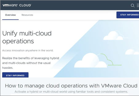 Comment VMware se transforme en plateforme de multicloud