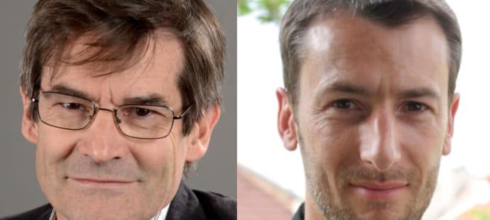 """Benoît Cassaigne (Médiamétrie) et Yann Le Roux (Integral Ad Science):""""Nous renouvelons le partenariat entre Médiamétrie et IAS pour deux ans""""."""