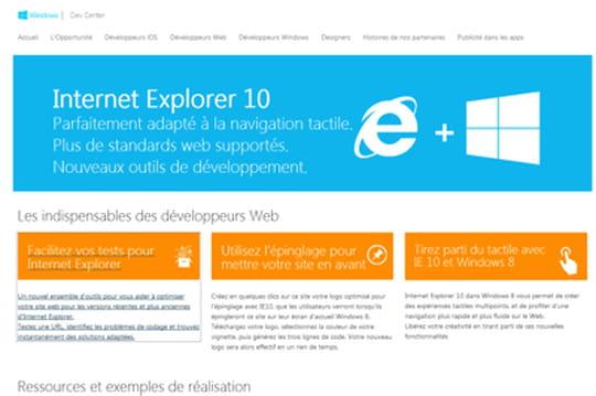 IE10 : ouverture d'un centre de ressources en français