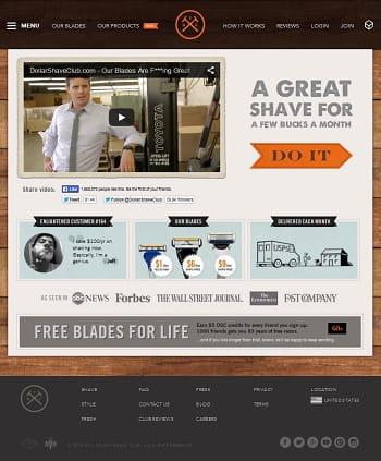 dollar shave club vend sur abonnement rasoirs, mousse à raser et autres produits