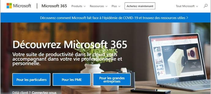 Microsoft365(ex-Office365): offre gratuite ou payante, les prix...