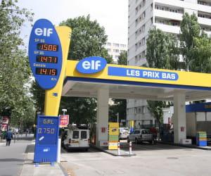 le prix du gazole dans les stations elf a baissé de 2,81% en 2009.