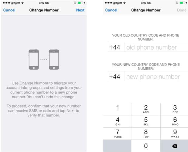Changer votre numéro WhatsApp si vous changez de numéro de téléphone