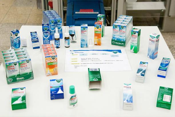 Produits Vicks contre le rhume et la toux