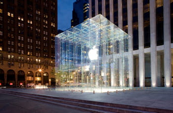 l'applestore de la 5ème avenue à new york