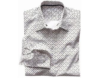 chemise soft grey à motifs, la redoute
