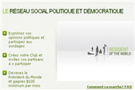 """Lancement du réseau social politique """"Resident of the World"""""""