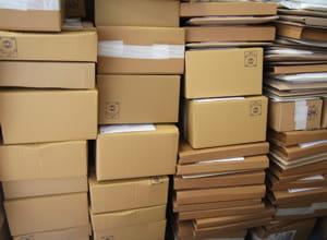 le carton ondulé est un matériau très utilisé pour l'emballage.