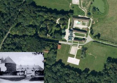 une vue aérienne du château de la resle.