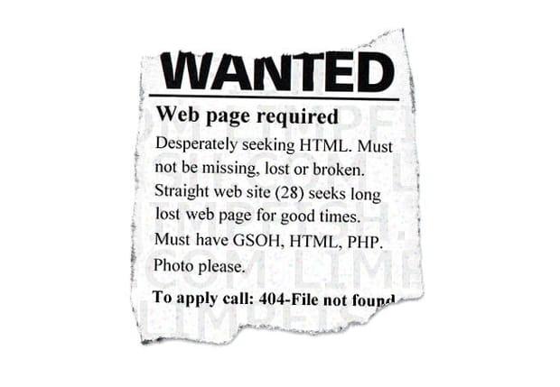 404 Avis de recherche