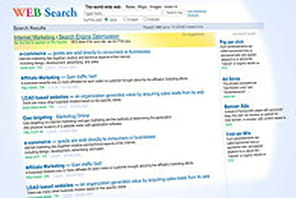 Les taux de clics des pages de résultats de Google et Bing