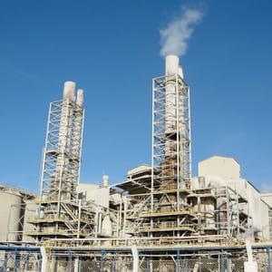 une usine de traitement de phosphate au maroc.