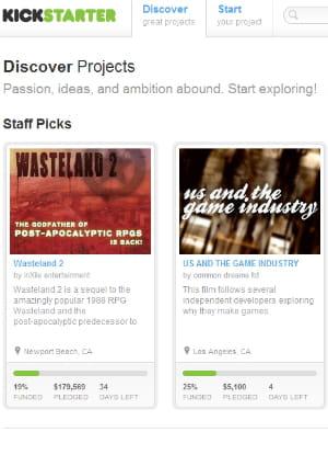 kickstarter revendique 10 000 projets financés depuis 2009
