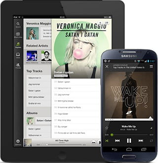 l'application mobile et tablette de spotify