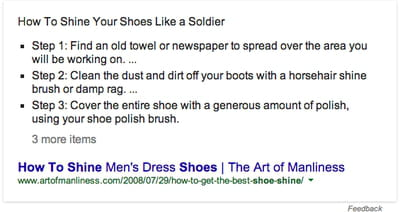 google more steps knowledge