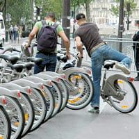 la station vélib de la rue lobeau, à paris.