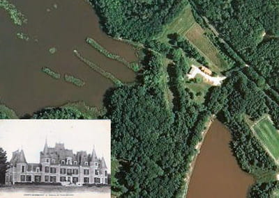 une vue aérienne du château de vieux-maisons.