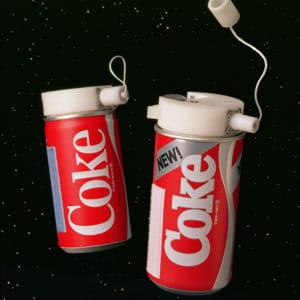 en 1985, le new coke est le premier soda consommé dans l'espace. sur terre,