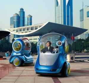 l'en-v concept, une voiture tout électrique imaginée par general motors, a pour